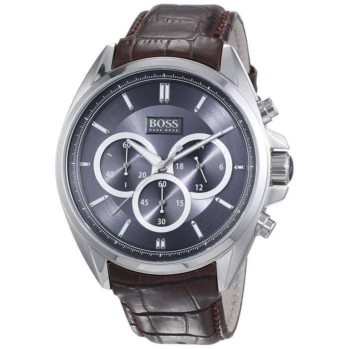 Hugo Boss Men's 1513035 Driver Chronograph Brown Leather Watch