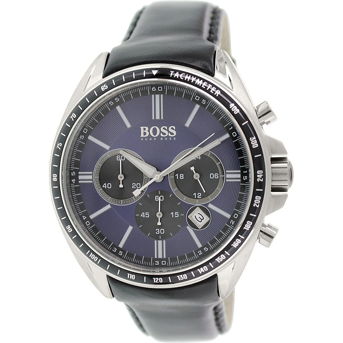 Hugo Boss Men's 1513077 Driver Sport Chronograph Black Leather Watch