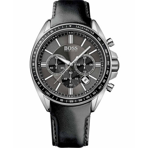 Hugo Boss Men's 1513085 Driver Sport Chronograph Black Leather Watch