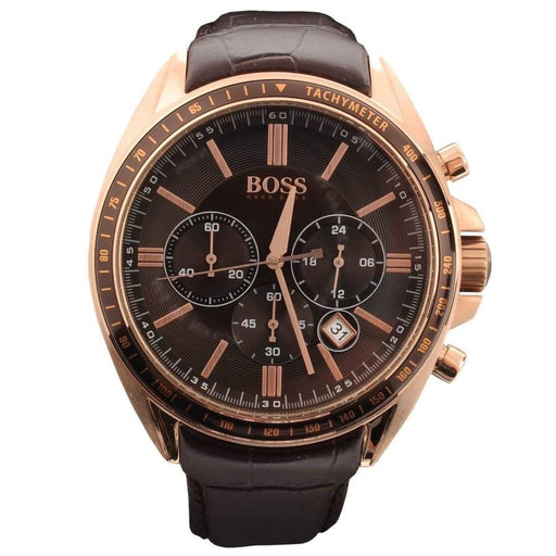 Hugo Boss Men's 1513093 Driver Chronograph Brown Leather Watch