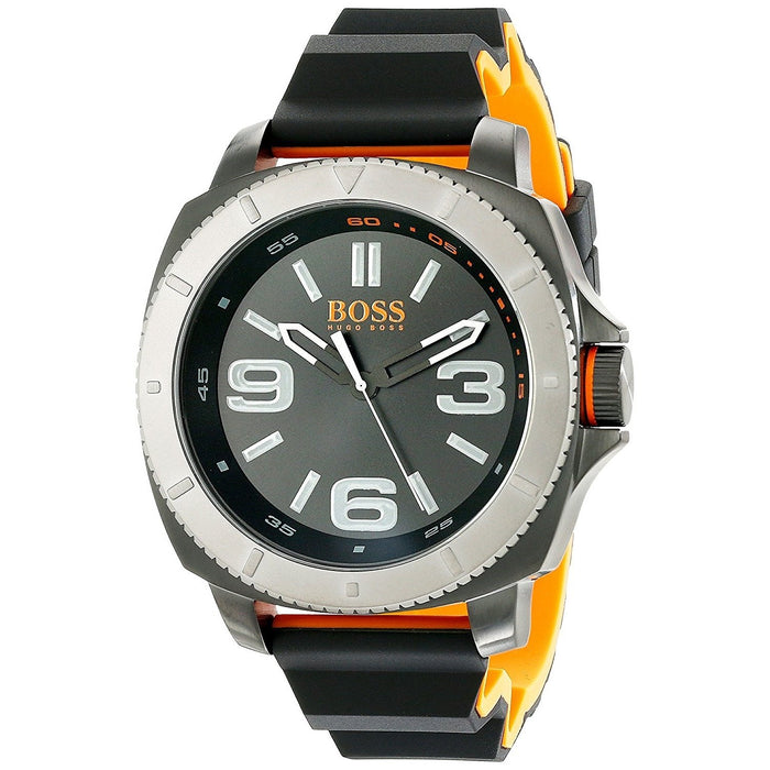 Hugo Boss Men's 1513109 Orange Black Silicone Watch