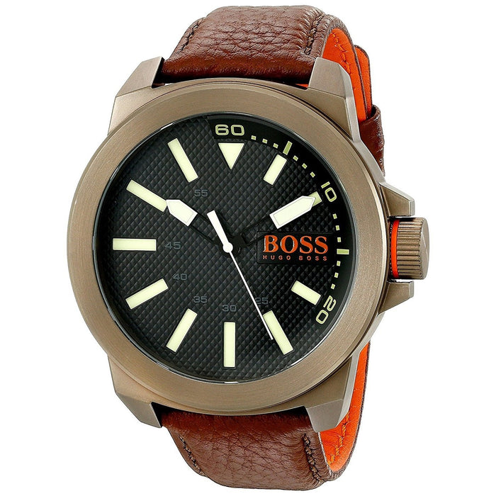 Hugo Boss Men's 1513168 Orange Brown Leather Watch