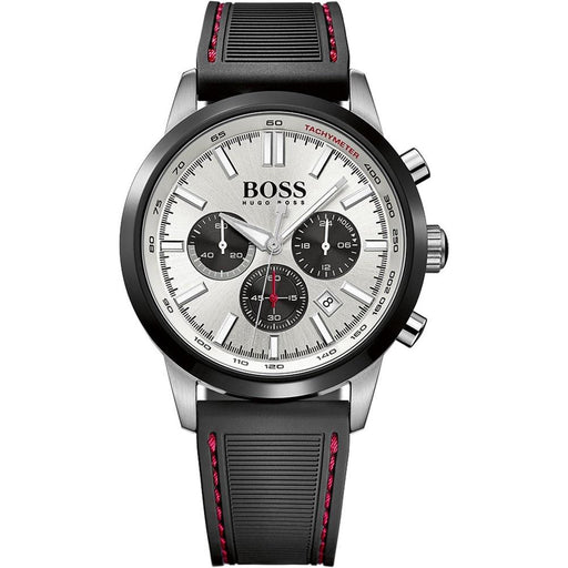 Hugo Boss Men's 1513185 Racing Chronograph Black Silicone Watch