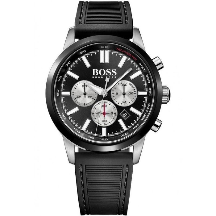 Hugo Boss Men's 1513186 Racing Chronograph Black Silicone Watch