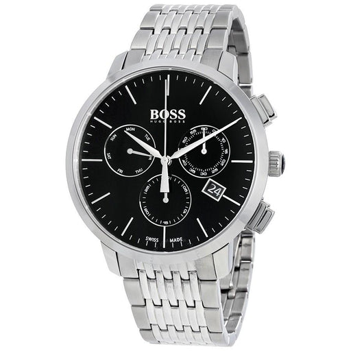 Hugo Boss Men's 1513267 Swiss Made Slim Chronograph Stainless Steel Watch
