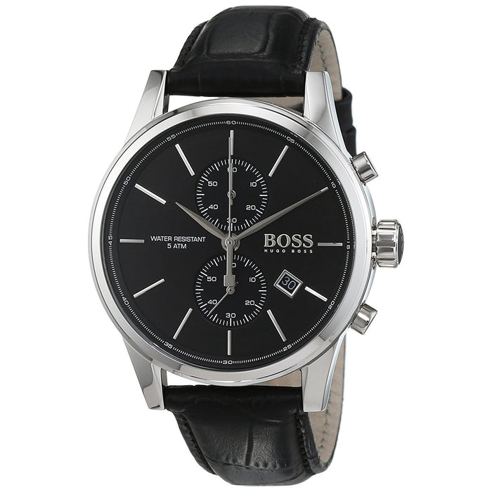 Hugo Boss Men's 1513279 Jet Chronograph Black Leather Watch