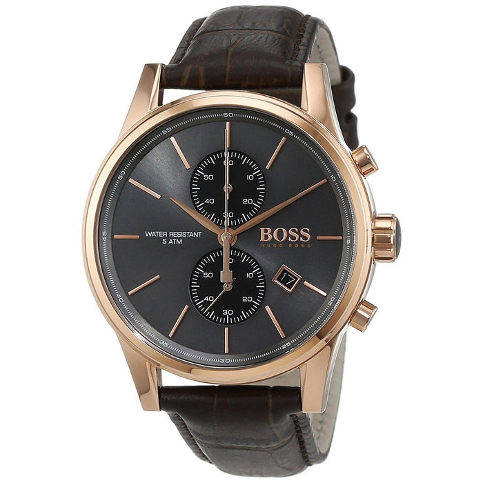 Hugo Boss Men's 1513281 Jet Chronograph Brown Leather Watch