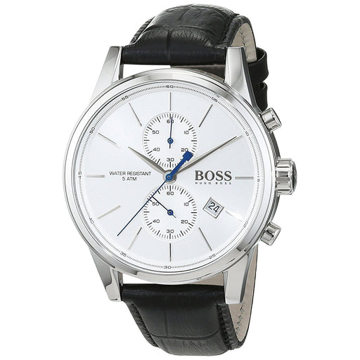Hugo Boss Men's 1513282 Jet Chronograph Black Leather Watch