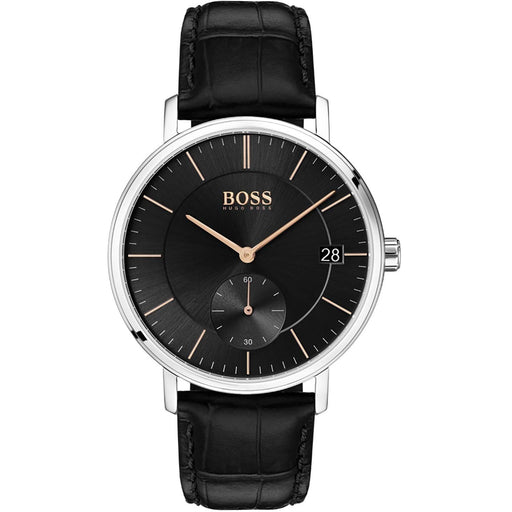 Hugo Boss Men's 1513638 Corporal Black Leather Watch
