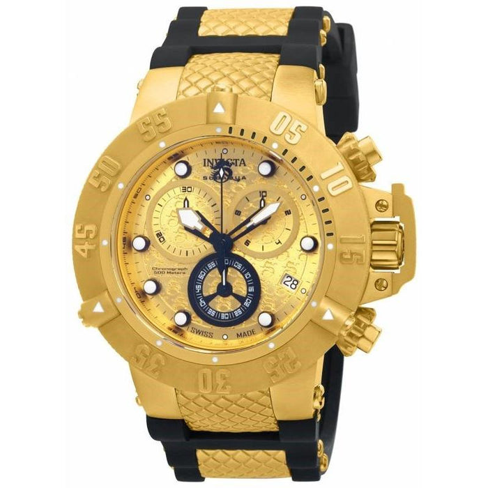 Invicta Men's 15802 Subaqua Noma III Chronograph Black Polyurethane Watch