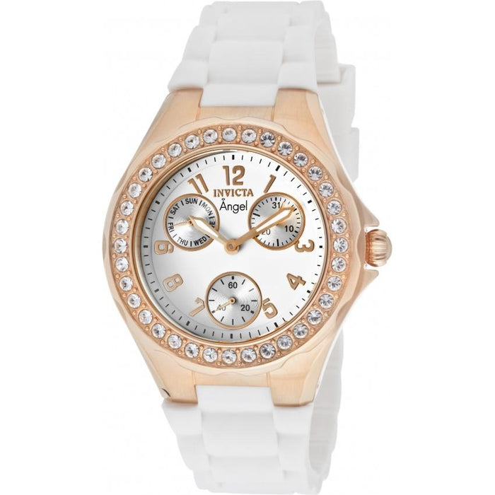 Invicta Women's 1646 Angel Multi-Function White Silicone Watch