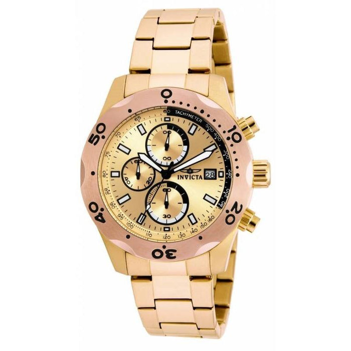 Invicta Men's 17753 Specialty Chronograph Gold-tone Stainless Steel Watch