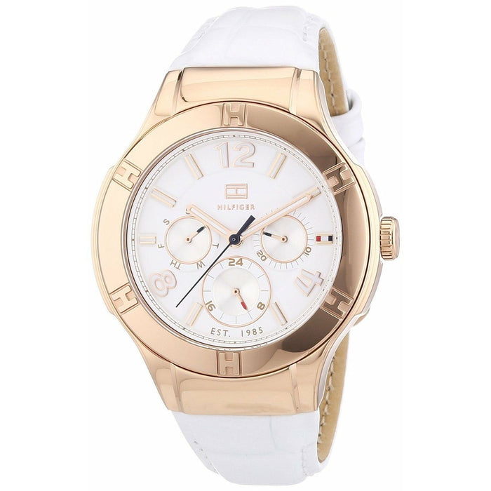 Tommy Hilfiger Women's 1781362 Ainsley  White Leather Watch