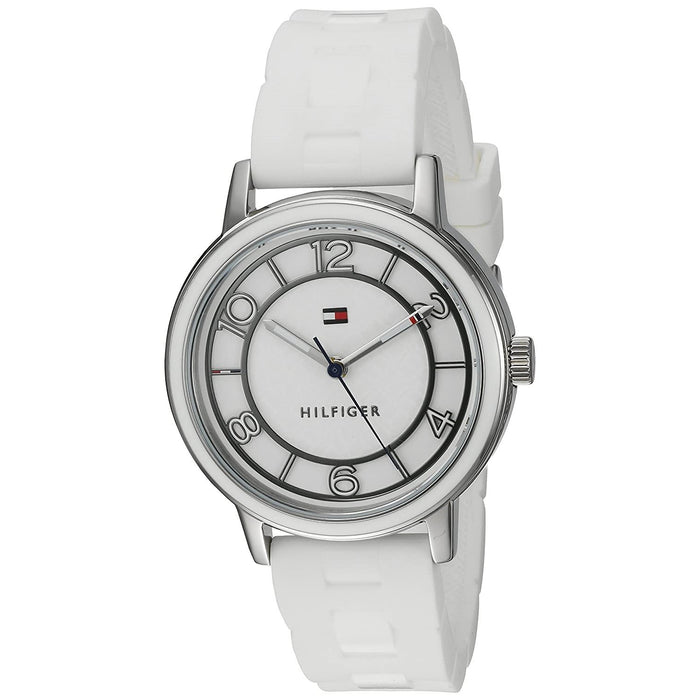 Tommy Hilfiger Women's 1781667 Nina White Silicone Watch