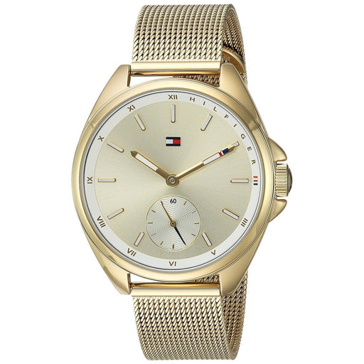 Tommy Hilfiger Women's 1781757 Sport Gold-Tone Stainless Steel Watch