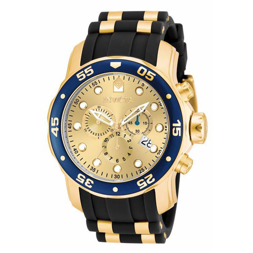 Invicta Men's 17881 Pro Diver Scuba Black and Gold-Tone Polyurethane Watch