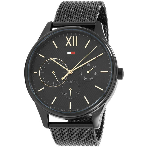 Tommy Hilfiger Men's 1791420 Damon Black Stainless Steel Watch