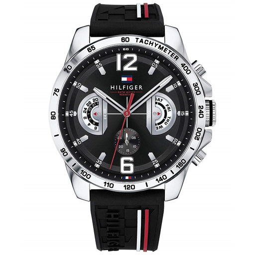 Tommy Hilfiger Men's 1791473 Sport Chronograph Black Silicone Watch
