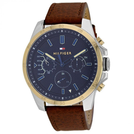 Tommy Hilfiger Men's 1791561 Decker Brown Leather Watch