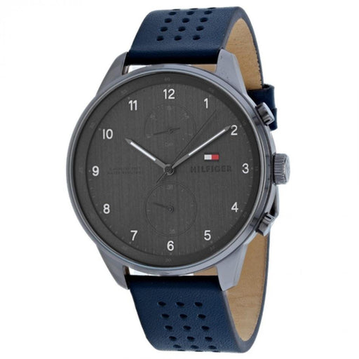 Tommy Hilfiger Men's 1791578 Chase Blue Leather Watch