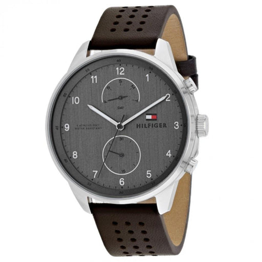 Tommy Hilfiger Men's 1791579 Chase Brown Leather Watch
