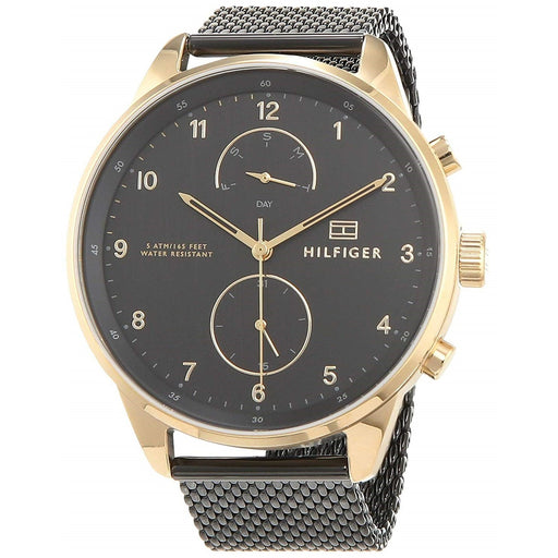 Tommy Hilfiger Men's 1791580 Chase Black Stainless Steel Watch