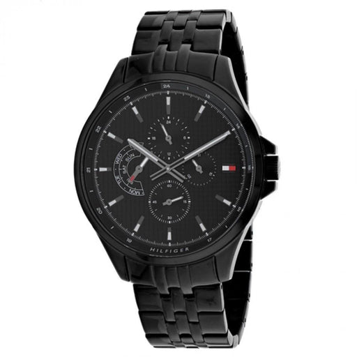 Tommy Hilfiger Men's 1791611 Shawn Black Stainless Steel Watch