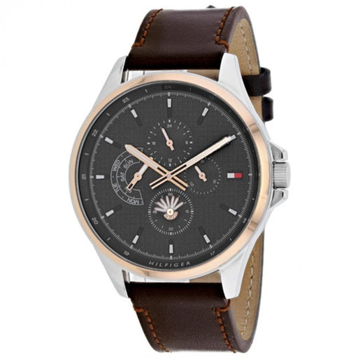 Tommy Hilfiger Men's 1791615 Shawn Brown Leather Watch