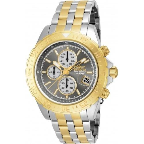 Invicta Men's 18852 Aviator Multi-Function Gold-tone and Silver Stainless Steel Watch