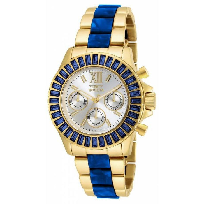 Invicta Women's 18871 Angel Chronograph  Blue and Gold-Tone Stainless Steel Watch