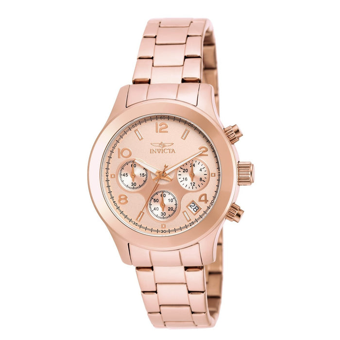 Invicta Women's 19218 Angel Chronograph Rose-tone Stainless Steel Watch