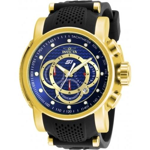 Invicta Men's 19328 S1 Rally Scuba Chronograph Black Polyurethane and Stainless Steel Watch