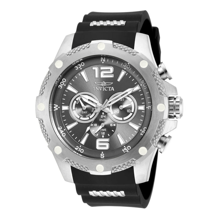Invicta Men's 19656 I-Force Chronograph  Black and Silver Polyurethane and Stainless Steel Watch
