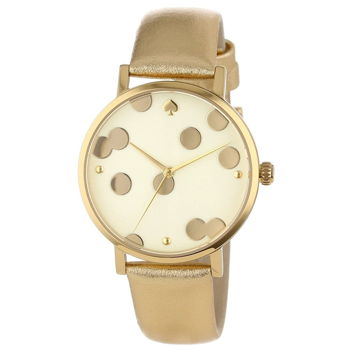 Kate Spade Women's 1YRU0016 Metro Gold-Tone Leather Watch