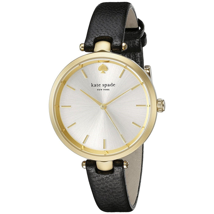 Kate Spade Women's 1YRU0811 Holland Black Leather Watch
