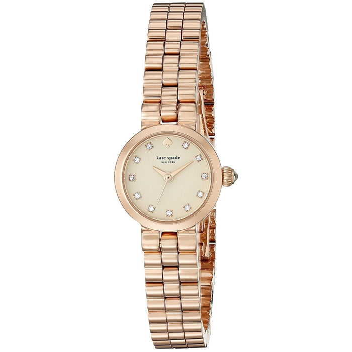 Kate Spade Women's 1YRU0921 Tiny Gramercy Crystal Rose-Tone Stainless Steel Watch