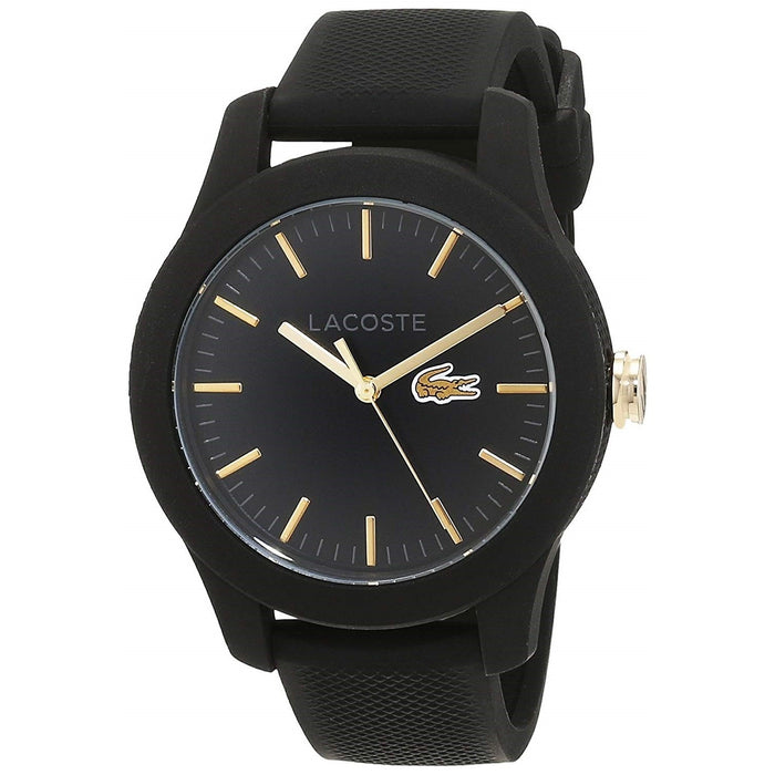 Lacoste Women's 2000959 Casual Black Silicone Watch