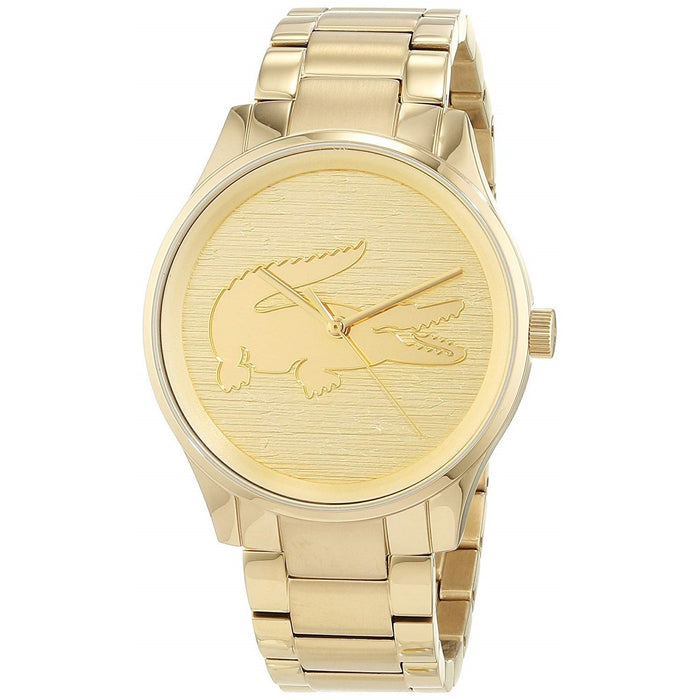 Lacoste Unisex 2001016 Victoria Gold-Tone Stainless Steel Watch