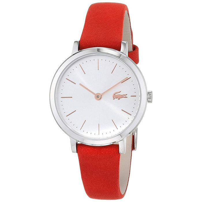 Lacoste Women's 2001048 Mini Moon Red Leather Watch