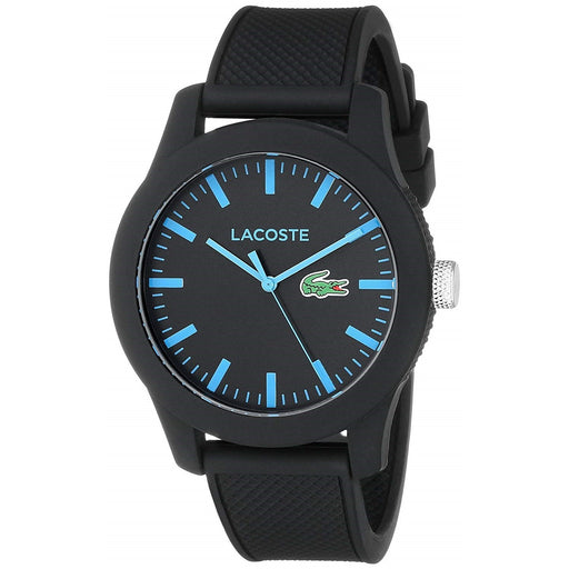 Lacoste Men's 2010791 12.12 Black Silicone Watch