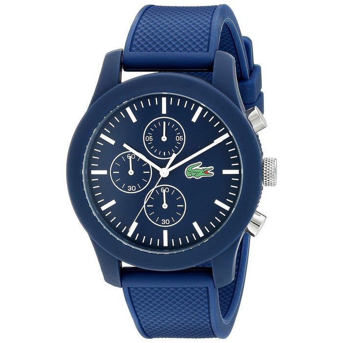 Lacoste Men's 2010824 Casual Chronograph Blue Silicone Watch