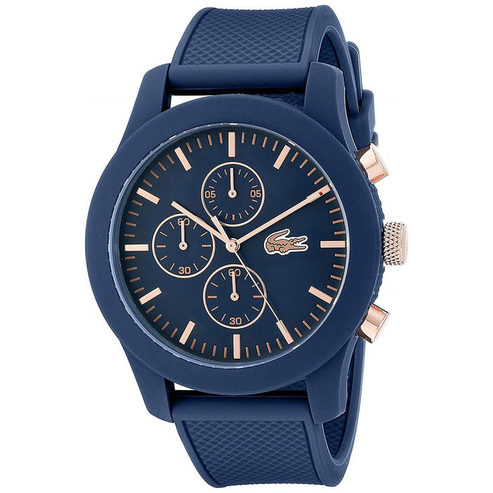 Lacoste Men's 2010827 Casual Chronograph Blue Silicone Watch