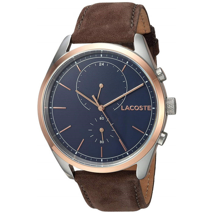 Lacoste Men's 2010917 San Diego Brown Leather Watch