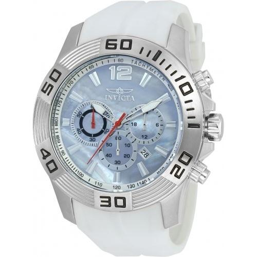 Invicta Men's 20297 Pro Diver Chronograph White Polyurethane Watch