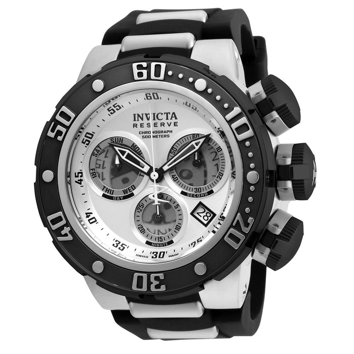 Invicta Men's 21640 Reserve Subaqua Sea Dragon Black and Silver Polyurethane and Stainless Steel Watch