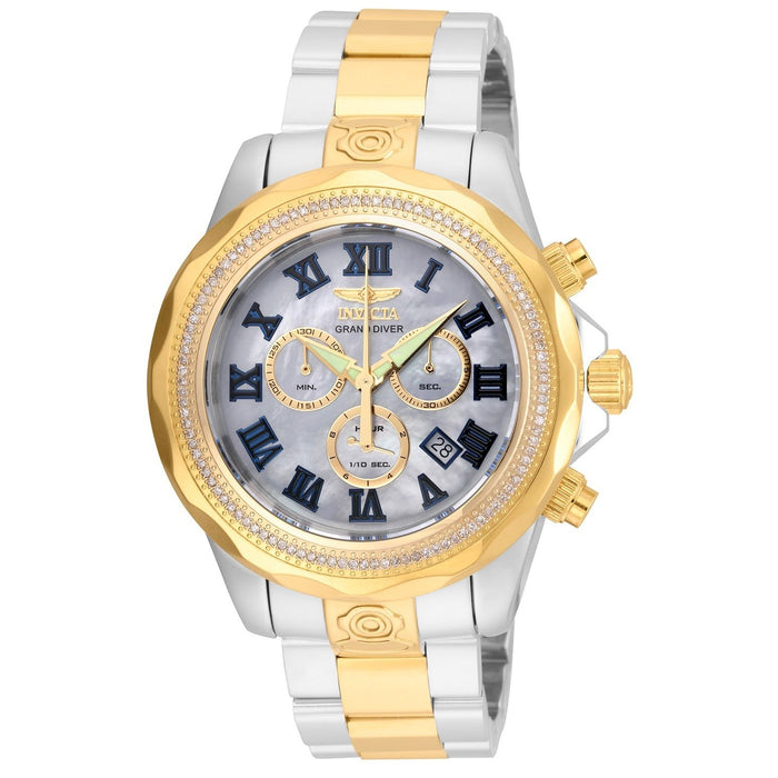 Invicta Men's 21713 Pro Diver Pro Diver Gold-Tone and Silver Stainless Steel Watch