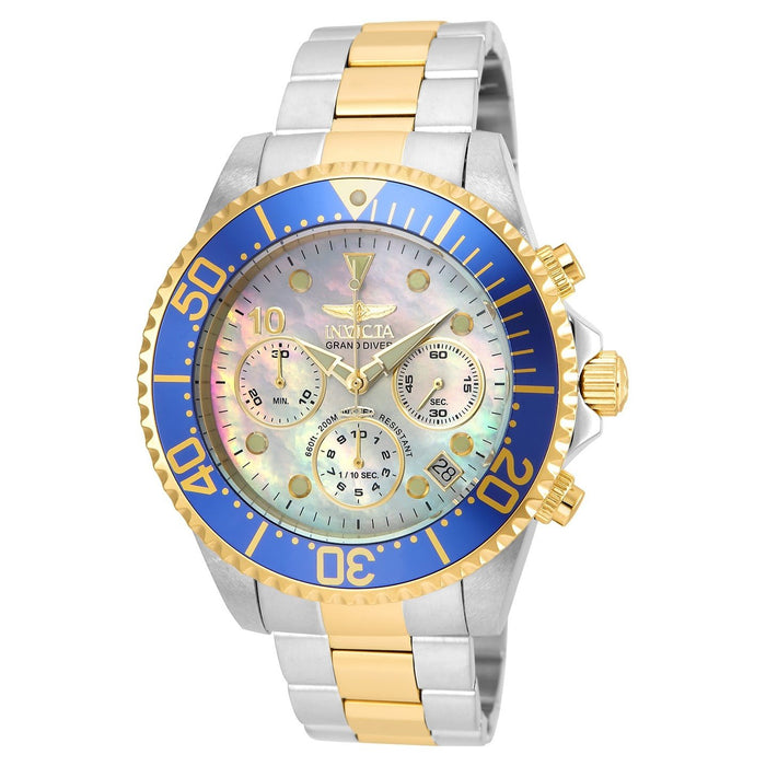 Invicta Men's 22038 Pro Diver Gold-tone and Silver Stainless Steel Watch