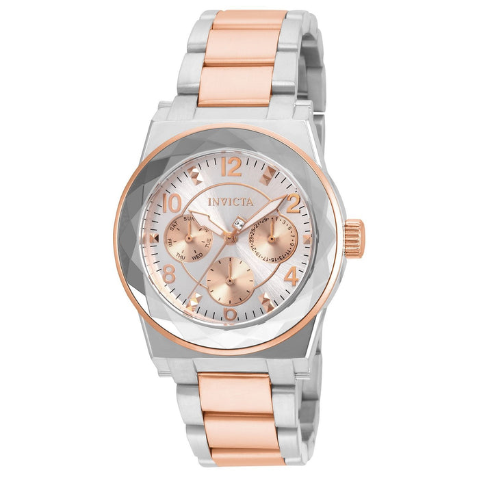 Invicta Women's 22109 Angel Rose-tone and Silver Stainless Steel Watch