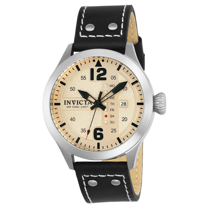 Invicta Men's 22181 I-Force Black Leather Watch