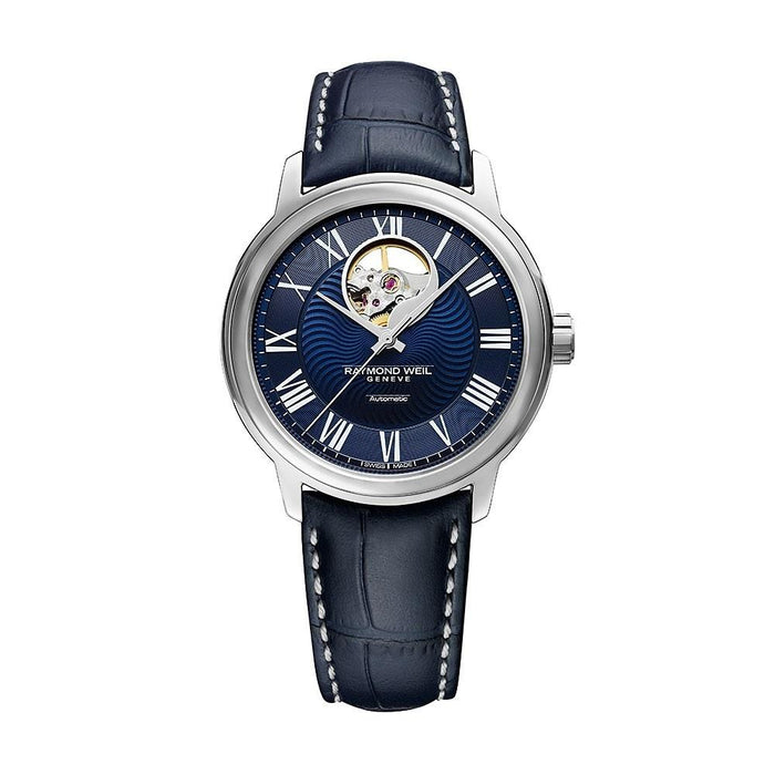 Raymond Weil Men's 2227-STC-00508 Maestro Automatic Blue Leather Watch